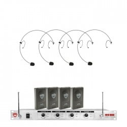 Nady 4-Channel VHF Wireless System with HM-10 Headset
