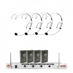 Nady 4-Channel VHF Wireless System with HM-20U Headset