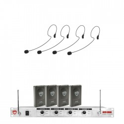 Nady 4-Channel VHF Wireless System with HM-35 Headset