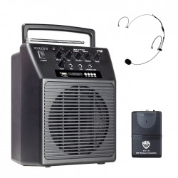 Nady Wireless Portable PA Speaker System with HM-20U Headset