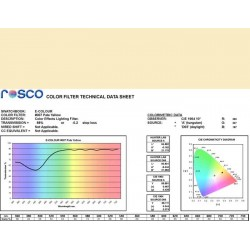 Rosco E-Colour 007 Pale Yellow - 21in. x 24in. Sheet