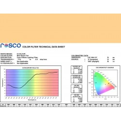 Rosco E-Colour 013 Straw Tint - 21in. x 24in. Sheet