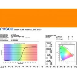Rosco E-Colour 021 Gold Amber - 21in. x 24in. Sheet