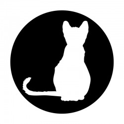Apollo Metal Gobo 9109 Cat Silhouette