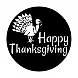 Apollo Metal Gobo 9123 Happy Thanksgiving