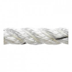 Marlow 3 Strand Polyester Traditional Rope - Diameter 12mm - Length 100m (White)