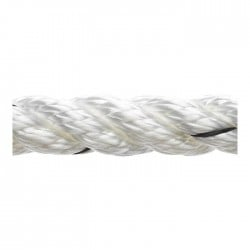 Marlow 3 Strand Polyester Traditional Rope - Diameter 24mm - Length 100m (White)