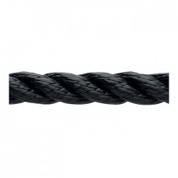 Marlow 3 Strand Polyester Traditional Rope - Diameter 6mm - Length 100m (Black)