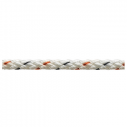 Marlow 8 Plait Pre-Stretched Traditional Rope - Diameter 4mm - Length 100m (White)