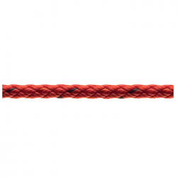 Marlow 8 Plait Pre-Stretched Traditional Rope - Diameter 6mm - Length 100m (Red)