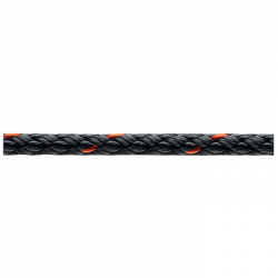 Marlow 8 Plait Pre-Stretched Traditional Rope - Diameter 6mm - Length 100m (Black)