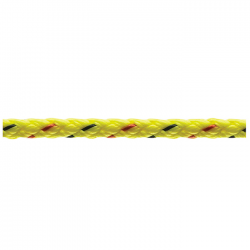 Marlow 8 Plait Pre-Stretched Traditional Rope - Diameter 4mm - Length 100m (Lime)