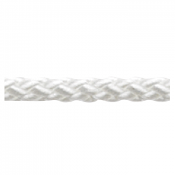 Marlow 8 Plait Standard Traditional Rope - Diameter 5mm - Length 100m (White)