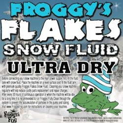 Froggy's Fog Ultra Dry Indoor Snow Fluid (330 Gallon Tote)