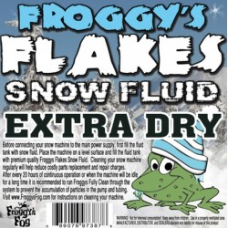 Froggy's Fog Extra Dry Outdoor Snow Fluid (275 Gallon Tote)