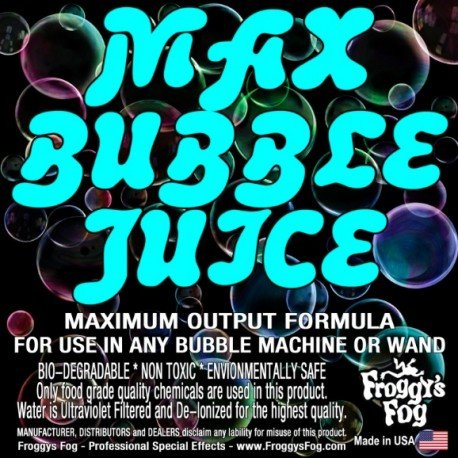 Froggy's Fog Max High Output Bubble Fluid (275 Gallon Tote)