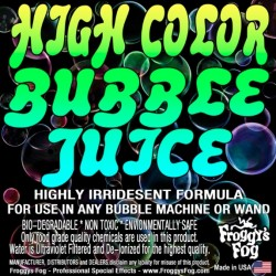 Froggy's Fog High Color Bubble Fluid (275 Gallon Tote)