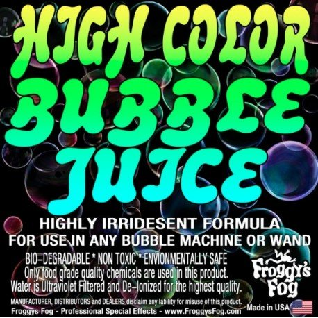 Froggy's Fog High Color Bubble Fluid (330 Gallon Tote)