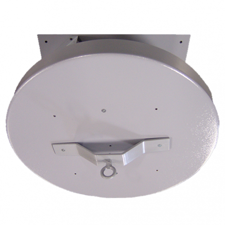 "H.D. 100 24"" Heavy Duty Ceiling Turner w/ 6 ft. Diameter Plywood Top- 1 RPM - 500 lb. Capacity"