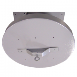 "H.D. 101 24"" Heavy Duty Ceiling Turner w/ 6 ft. Diameter Plywood Top - 1 RPM - 8 Amp - 500 lb. Capacity"