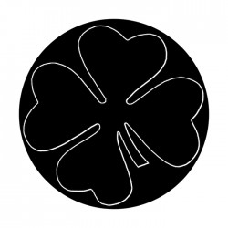Apollo SuperRes High End Glass Gobo 1363 Four Leaf Clover