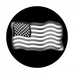 Apollo SuperRes High End Glass Gobo 1083 Flowing U.S. Flag