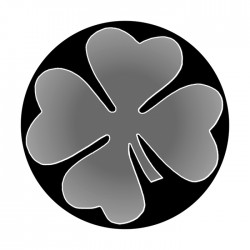 Apollo SuperRes High End Glass Gobo 1364 Four Leaf Clover Too