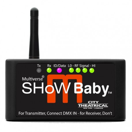 City Theatrical Multiverse SHoW Baby DMX Transceiver