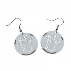 Apollo Gobo Earrings - Snowman