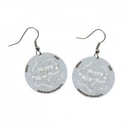 Apollo Gobo Earrings - Happy New Year