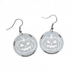 Apollo Gobo Earrings - Jack-o-lantern