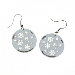 Apollo Gobo Earrings - Snowflakes