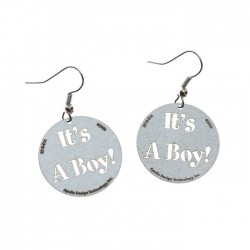 Apollo Gobo Earrings - It's A Boy