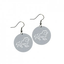 Apollo Gobo Earrings - Leo The Lion