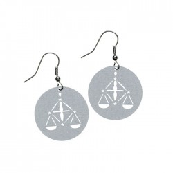 Apollo Gobo Earrings - Libra Scales