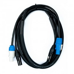 Accu-Cable 6' 3 Pin DMX & Powercon Link Cable