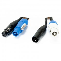 Accu-Cable 12' 3Pin DMX & Power Link Cable