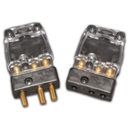 20 AMP PINTECH CABLE MALE PLUG - CLEAR COVER
