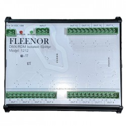Doug Fleenor Bi-Directional DMX512/RDM Isolated Splitter - DIN Rail Mount Capable - 12 Output 1 Input
