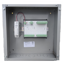 Doug Fleenor Bi-Directional DMX512/RDM Isolated Splitter - DIN Rail Mounted in Junction Box - 12 Output 1 Input