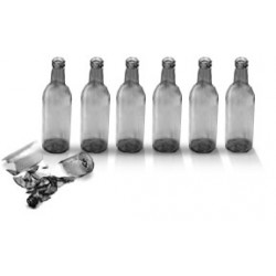 City Theatrical 7 3/4-inch Short Neck Beer Bottles (Clear)