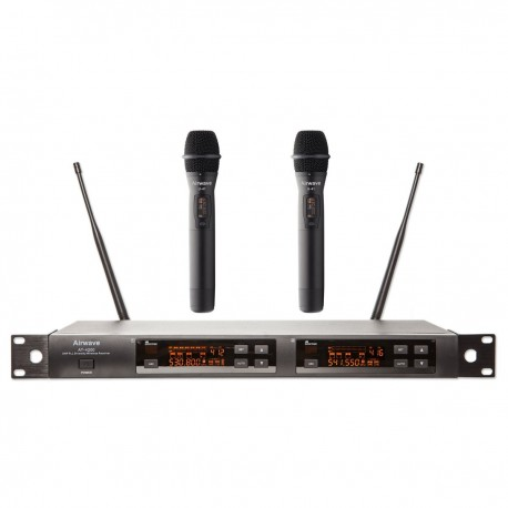 Airwave Technologies 144 Channel UHF Dual Channel 2 Handheld Wireless Microphone System