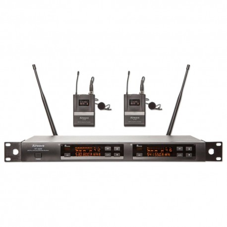 Airwave Technologies 144 Channel UHF Dual Channel 2 Lavalier Wireless Microphone System