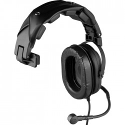 Telex RTS HR1 Single-Sided Full Cushion Medium Weight Noise Reduction Headset - Pigtail Termination