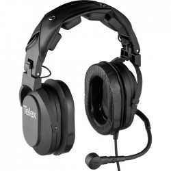 Telex RTS HR2 Dual-Sided Full Cushion Medium Weight Noise Reduction Headset - Pigtail Termination
