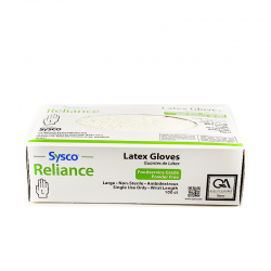 SYSCO Reliance Latex Gloves - 100 Ct.
