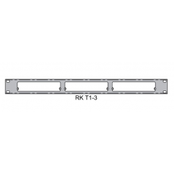 Doug Fleenor Rack Kit - Three 5in. Wide Black Chassis (RKT1-3)