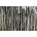 Mylar Rain Curtain - Black/Silver