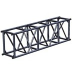 "Applied NN 20.5"" x 30"" Spigoted Box Truss - Black"